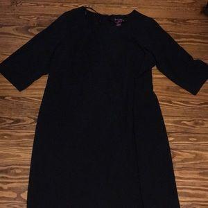Jessica London black dress 3/4 sleeves size 22W.